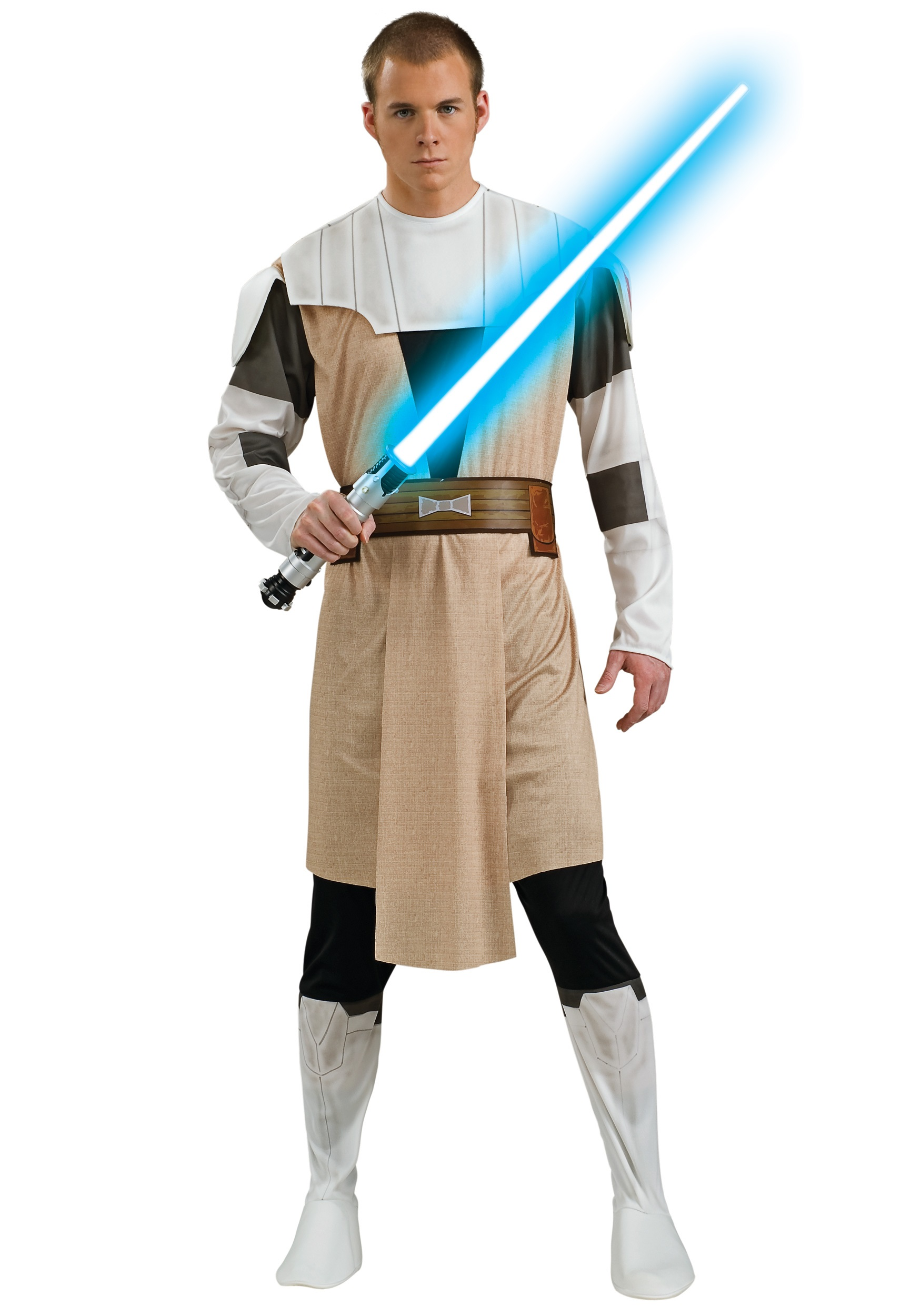 Adult Star Wars Obi-Wan Kenobi Jedi Knight Suits Cloak Cosplay Complete Costume